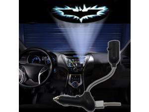 Komingo Sold Multifunction Car USB Charger Work As Dome Lamp & Projector Lights with Cold Blue Bat Batman Projection Films