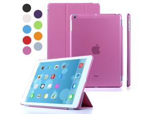 TKOOFN Ultra Thin Magnetic Smart Cover & Clear Back Case for Apple iPad Air (5th Gen) + Screen Protector + Stylus + Cleaning Cloth, Pink