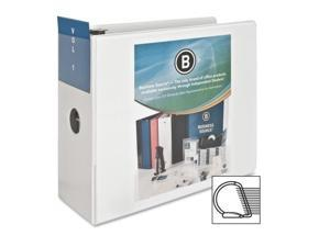 "D-Ring Binder w/ Pockets 5"" Capacity White"