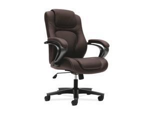 VL402 Series Executive High-Back Chair Brown Vinyl