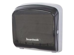 Mini Folded Towel Dispenser, 5 3/8 x 12 3/8 x 13 7/8, Smoke Black BWKFT111SBBW
