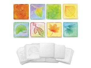 Leaf-Embossed Paper Set, 24 Sheets, 6/ST, White CKC4640