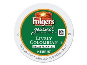 Gourmet Selections Lively Colombian Coffee K-Cups, Decaf, 24/Box GMT0570
