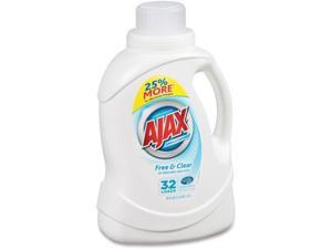 AJAX Free/Clear Liquid Laundry Detergent - 0.39 gal (49.71 fl oz) - 1 Each - Clear AJAPB49551