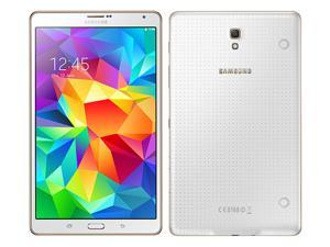 """Samsung Galaxy Tab S 8.4"""" T705 Dazzling White Tablet with voice calling feature, 3GB RAM, Quad-core 1.9 GHz & Quad Core 1.3 GHz, 8MP and fingerprint sensor"""