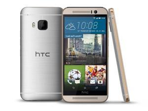 "HTC One M9 4G LTE 64GB Gold on Silver FACTORY UNLOCKED 5"" 3GB RAM Smartphone"