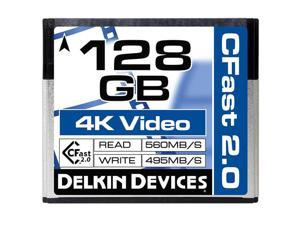 Delkin Devices 128GB Cinema CFast 2.0 Memory Card #DDCFST560128