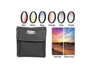 Vivitar 77mm Graduated Color Multicoated Filter Set #VIV-FKGR6-77