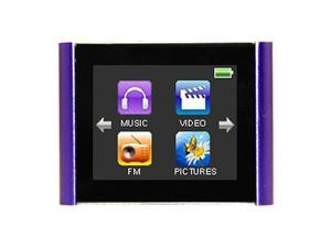 "Mach Speed Eclipse T180 4GB MP3 Player, 1.8"" Touch LCD, Video, FM Radio, Purple"