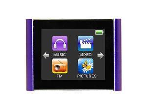 "Mach Speed Eclipse T180 4GB MP3 Player, 1.8"" Touch LCD, Video, FM Radio, Purple"