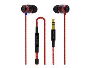 SoundMAGIC E10 Noise Isolating In-Ear Earphones, Black & Red #E10R