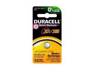 DURACELL D301/386BPK Button Cell Battery, 301/386, Silver Oxide