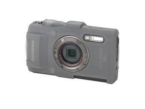 Olympus CSCH-122 Silicone Jacket for Tough TG-3 Digital Camera, Gray