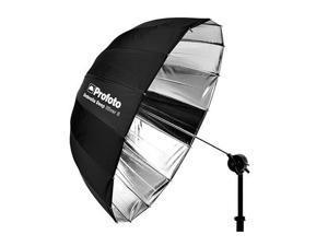 """Profoto Deep and Parabolic 33"""" Umbrella, Small, Silver #100984"""
