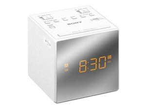Sony ICF-C1T Dual Alarm Clock with FM/AM Radio, White #ICF-C1TWHITE