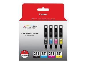 Canon Usa Cli 241 4-pack Combo (black Cyan Magenta Yellow) For Canon Mg6320 Ip7220 Mg