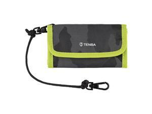 Tenba Reload SD 9 Card Wallet, Black Camouflage/Lime #636-218