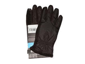 Isotoner Women's smarTouch 2-Finger Matrix Nylon Gloves, Medium/Large, Black