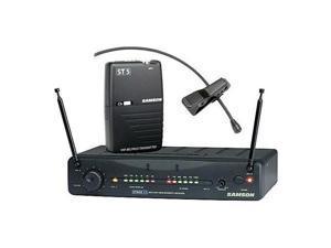 Samson Stage 55 Wireless VHF Bodypack System, LM10 Lavalier Mic, Ch 18/174.5 MHz