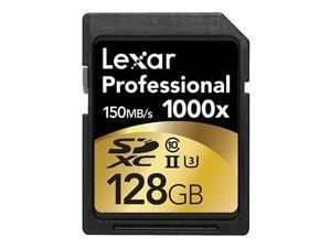 Lexar 128GB Professional 1000x UHS-II U3 SDXC Memory Card #LSD128CRBNA1000