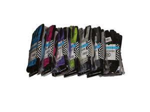Isotoner Women's smarTouch 2-Finger Matrix Nylon Gloves, Medium/Large, Lime