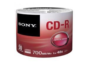 Sony CD-R 80min/700MB 48x CD-R Blank Media Disc, 50 Pack #50CDQ80SB