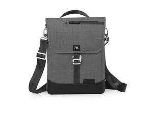 """Brenthaven Collins Vertical Messenger Bag for Chromebooks up to 14"""", Charcoal"""
