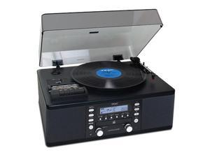 CD Recorder Cassette Turntable WALNUT