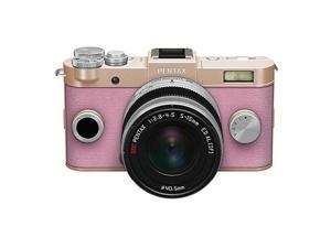 PENTAX Q-S1 Mirrorless Digital Camera w/5-15mm Lens - Gold/Pink #06959