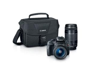 Canon Rebel SL1 8575B055 Black 18.0 MP Digital SLR Camera with 18-55mm and 75-300mm Lenses