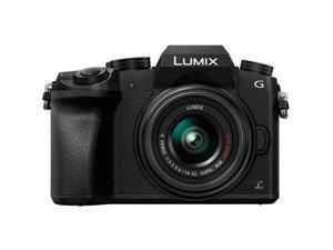 Panasonic Lumix DMC-G7 Mirrorless Digital Camera with 14-42mm Lens, Black