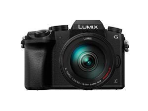 Panasonic Lumix DMC-G7 Mirrorless Digital Camera with 14-140mm Lens, Black