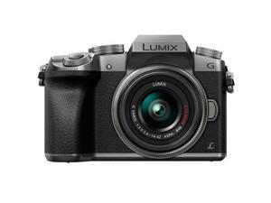 Panasonic Lumix DMC-G7 Mirrorless Digital Camera with 14-42mm Lens, Silver