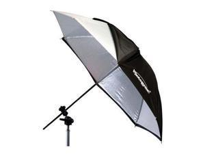 Photogenic 922338 32in Silver Umbrella with Black Cover