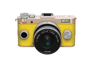 PENTAX Q-S1 Mirrorless Digital Camera w/5-15mm Lens - Gold/Yellow #06955