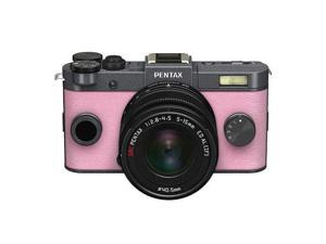 PENTAX Q-S1 Mirrorless Digital Camera w/5-15mm Lens - Gunmetal/Pale Pink #06943