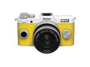 PENTAX Q-S1 Mirrorless Digital Camera w/5-15mm Lens - White/Yellow #06946