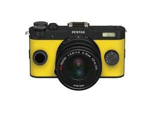 PENTAX Q-S1 Mirrorless Digital Camera w/5-15mm Lens - Black/Yellow #06909