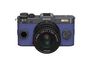 PENTAX Q-S1 Mirrorless Digital Camera w/5-15mm Lens - Gunmetal/Blue #06941