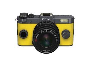 PENTAX Q-S1 Mirrorless Digital Camera w/5-15mm Lens - Gunmetal/Canary Yellow