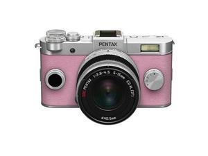 PENTAX Q-S1 Mirrorless Camera w/5-15mm Lens - Silver/Pale Pink #06969