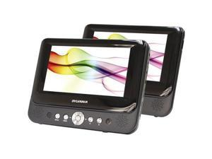 "Sylvania 7"" DUAL SCREEN PORTABLE DVD PLAYER #SDVD8737"