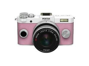 PENTAX Q-S1 Mirrorless Digital Camera w/5-15mm Lens - White/Pink #06952