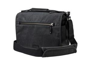 Tenba Cooper 13 DSLR Bag for Mirrorless/DSLR Camera, Gray Canvas/Black Leather