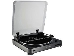 Audio-Technica AT-LP60-USB LP-to-Digital Turntable Recording System, Black