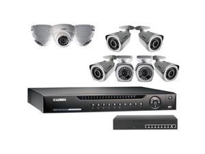 Lorex 16 Channel NVR with FLIR Cloud & 3TB Preinstalled HDD, Dome/Bullet Cameras