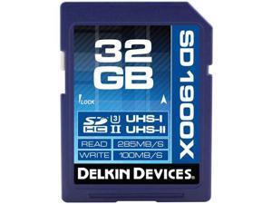 Delkin Devices 32GB SDHC 1900X UHS-I/UHS-II U3 Memory Card #DDSD190032GB