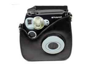 Polaroid Leather Carry Case for Pic-300 Instant Print Camera, Black #PLC300B