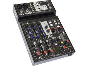 Peavey PV 6 BT Compact Pro Audio Mixer with Bluetooth #03612590