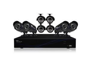 Night Owl 16 Channel DVR with HDMI, 500 GB HDD and 8 x 480 TVL Cameras (30' NV)